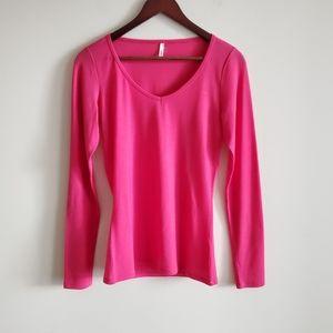 Icebreaker merino wool baselayer, pink